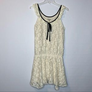 Lucca Couture Womens Mini Dress Lace Ivory M NEW